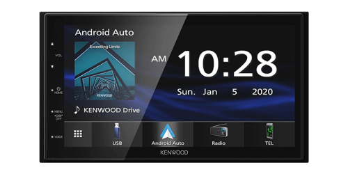 Kenwood Bluetooth Multimedia Player with Apple CarPlay & Android Auto